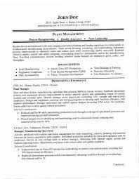 Manufacturing Supervisor Resume YAKX Plant Manager Sample