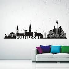 wandtattoo wandaufkleber skyline düsseldorf stadt wohnzimmer