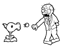 Image Of Plants Vs Zombies Coloring Pages Games