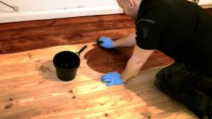 Knee Pads For Hardwood Floor Installers by How To Stain A Wooden Floor Like A Pro Youtube
