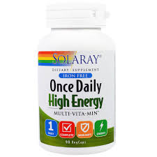 Solaray ce Daily High Energy Multi Vita Min 90 VegCaps