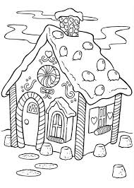 Christmas Delicious Gingerbread House Coloring Page