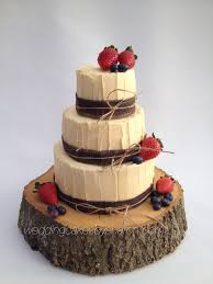 Picture Rustic Wedding Cake