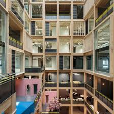 100 Atrium Architects Drone Footage Reveals 10storey Timber Atrium By Studio RHE
