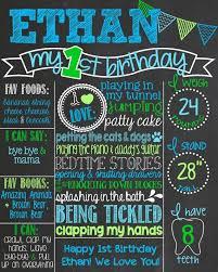 1st Birthday Chalkboard Poster Template Best 25 First Board Ideas On Pinterest
