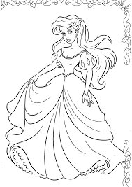 Coloriages Ariel Disney