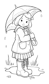 Rain Coloring Pages The Compilation Of These Pictures To Color Helps You And Your