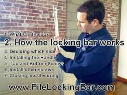 Hon Filing Cabinet Lock Install by Installing File Locking Bar On Filing Cabinet Youtube