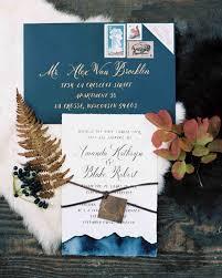 Blue Fall Wedding Invitation