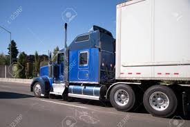 Blue American Made Model Of Big Rig Semi Truck With Chrome ...