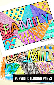 Strikingly Design Ideas Pop Art Coloring Pages Free Family Word Print And
