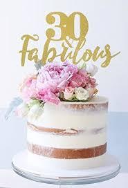 30 fabulous tortenaufsatz birthday cake topper 30