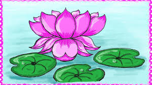 Drawing a simple lotus flower How to draw lotus