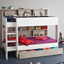 parisot tam tam 3 white grey bunk bed with optional drawer