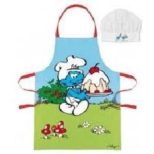 tablier cuisine pour enfant schtroumpfs cuisine achat vente schtroumpfs cuisine pas cher