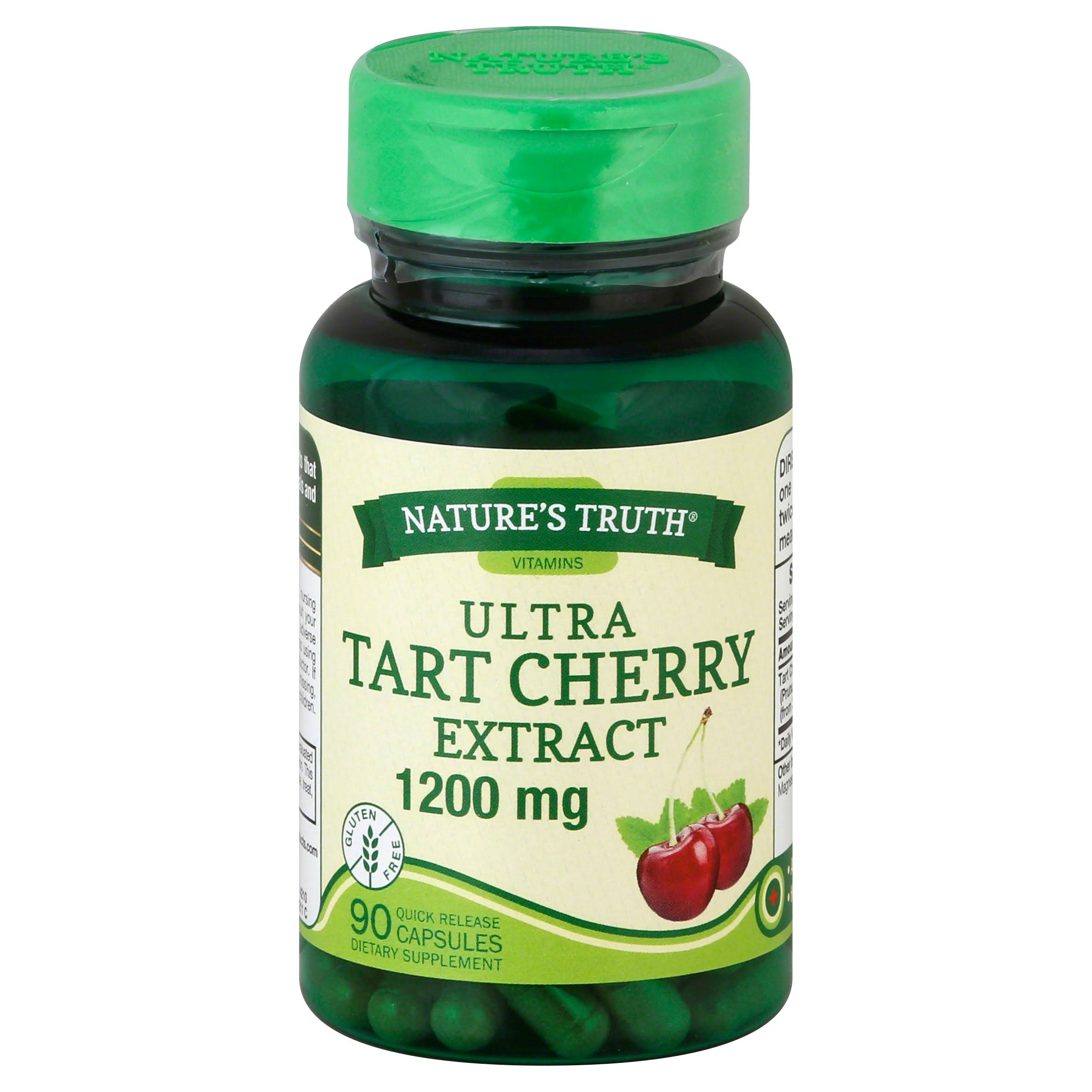 Nature's Truth Ultra Tart Cherry Extract Dietary Supplement - 1200mg, 90ct