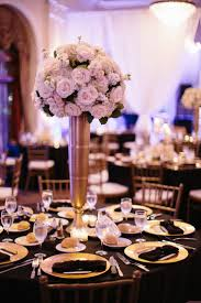 142 Best BLACK And GOLD WEDDINGS CENTERPIECES Images On Pinterest