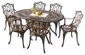 gardena 7 piece dining set transitional outdoor dining sets