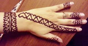 Simple Quick Hearts Henna Design - Valentines Day Easy Henna Strip ... 25 Beautiful Mehndi Designs For Beginners That You Can Try At Home Easy For Beginners Kids Dulhan Women Girl 2016 How To Apply Henna Step By Tutorial Simple Arabic By 9 Top 101 2017 New Style Design Tutorials Video Amazing Designsindian Eid Festival Selected Back Hands Nicheone Adsensia Themes Demo Interior Decorating Pictures Simple Arabic Mehndi Kids 1000 Mehandi Desings Images