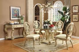 Ortanique Round Glass Dining Room Set by Antique White Round Dining Table Set Starrkingschool