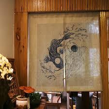 japanischer druck tür vorhang fisch taijitu feng shui schlafzimmer küche dekor