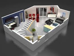 plan maison moderne 3d mam menuiserie