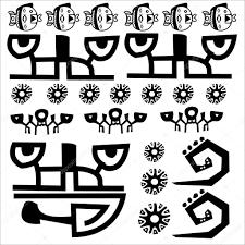 Sign Symbol Primitive Tribal Hieroglyph Language Inscription Inca Maya Writing Drawing Paintpainting Tattoo Motive Initials Logo Frieze