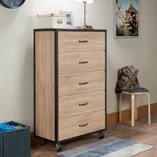 South Shore Step One Dresser Grey Oak by South Shore Mikka 5 Drawer Black Oak Chest 3541035 The Home Depot