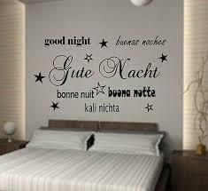 gute nacht wandtattoo schlafzimmer wandaufkleber spruch wortwolke ebay