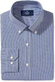 amazon com buttoned down men u0027s fitted button collar pattern non
