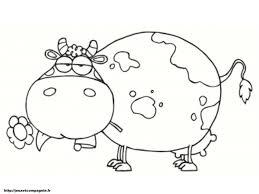 Coloriage Vache Dessin De Vache Facile Apsip à Coloriage Vache
