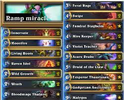Hunter Decks Hearthstone August 2017 by Miracle Malygos Druid Standard Hearthstone Decks