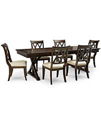 Baker Street Dining Furniture 7 Pc Set Trestle Table 6