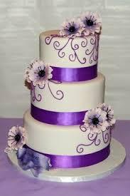 My Photo Album Purple Wedding CakesRound