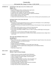 Download Senior Consultant Healthcare Resume Sample As Image File
