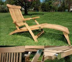 steamer deck chair bench chair table sun longer luxury teak