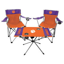 Rawlings Clemson Tigers Tailgate Chair And Table Set Ncaa Chairs Academy Byog Tm Outlander Chair Dabo Swinney Signature Collection Clemson Tigers Sports Black Coleman Quad Folding Orangepurple Fusion Tailgating Fisher Custom Advantage Zero Gravity Lounger Walmartcom Ncaa Logo Logo Chair College Deluxe Licensed Rawlings Deluxe 3piece Tailgate Table Kit Drive Medical Tripod Portable Travel Cane Seat