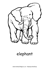 Elephant Colouring Page 2