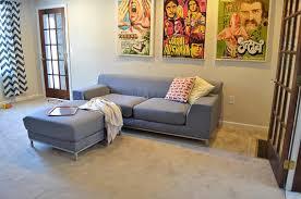 custom ikea kramfors sofa cover 3 seater in kino charcoal