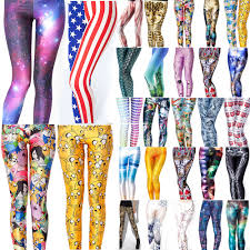 2014 3d graphic colourful printed women leggings tights pant