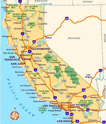 California Beach Cities Map Road Of Printable
