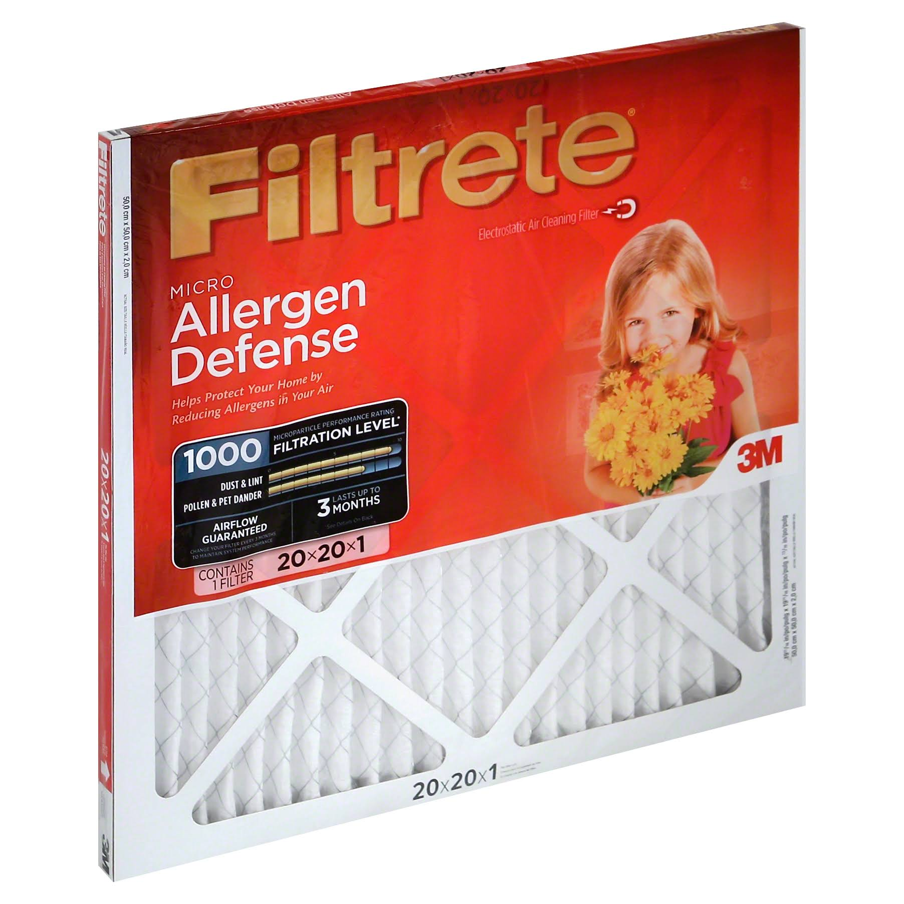 "3M Filtrete Micro Allergen Reduction Filter - 20"" x 20"" x 1"""