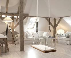 holzschaukel für den innen und außenbereich home decor