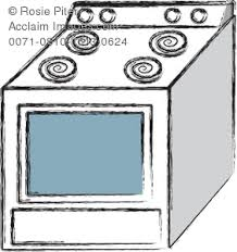 282x300 Royalty Free Clip Art Image Chalk Drawing Of A Kitchen Oven And Stove