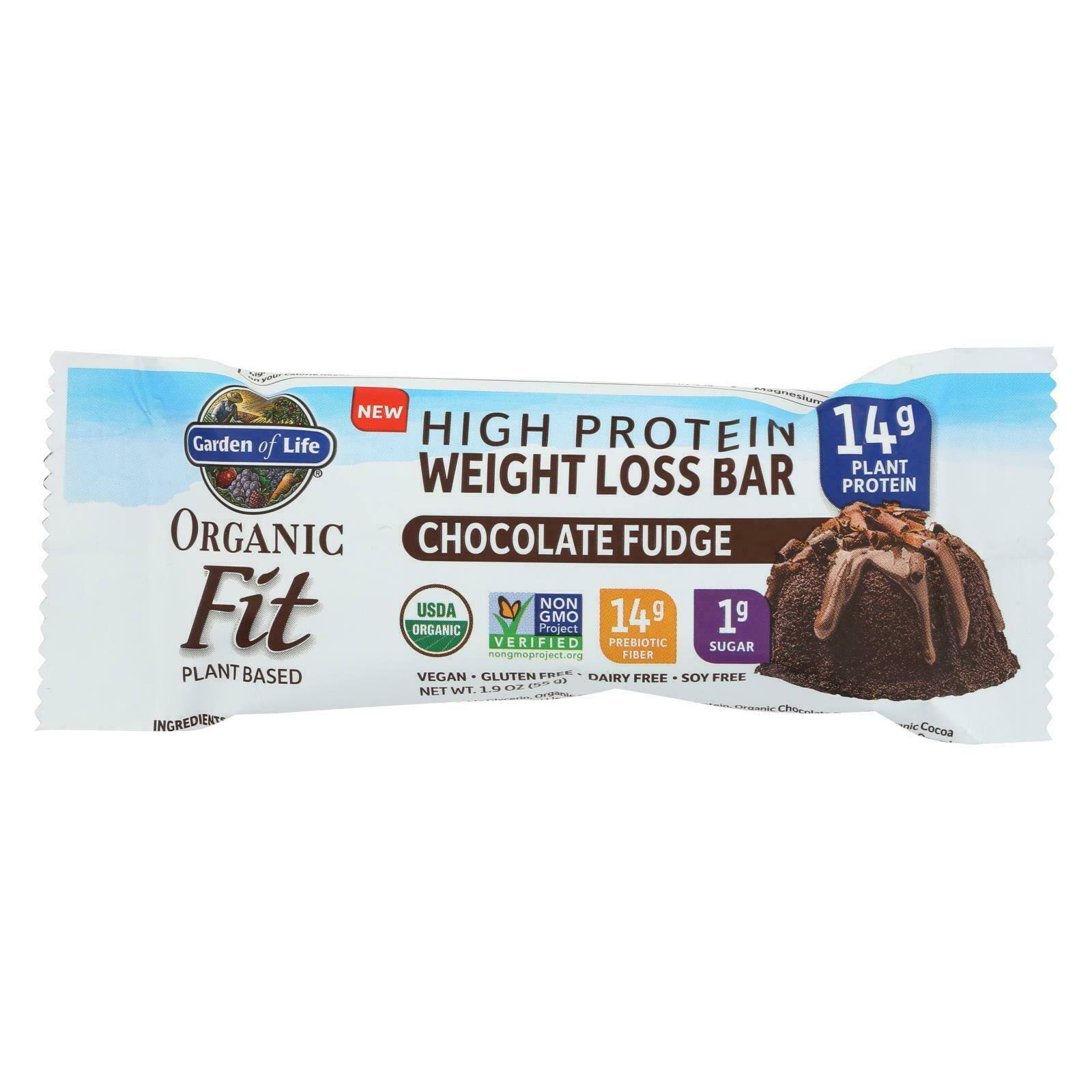 Garden of Life Organic Fit High Protein Weight Loss Bar - Chocolate Fudge, 1.9oz