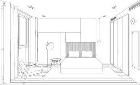 linie skizze zeichnung der innen küche vector