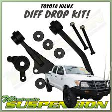 100 Drop Kits For Trucks TOYOTA HILUX KUN26 05 Onwards DIFF DROP KIT For 25 INCH RAISED