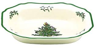 Spode Christmas Tree Open Vegetable Dish 1 11 2 Inch