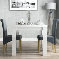 100 White Gloss Extending Dining Table And Chairs Komoro High With 6 Perth Grey