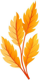 Orange Autumn Leaves PNG Clip Art